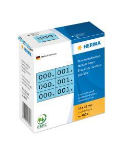 HERMA 4803 TRIPLICATE NUMBERS
