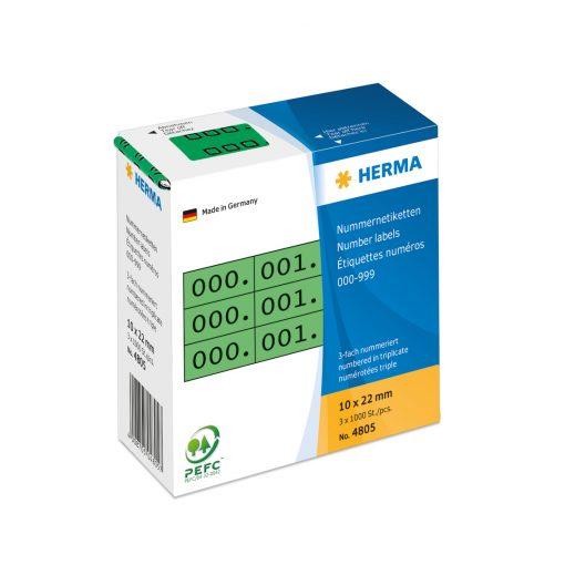 HERMA 4805 TRIPLICATE NUMBERS