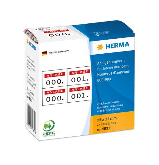 HERMA 4832 ENCLOSURE NUMBERS R