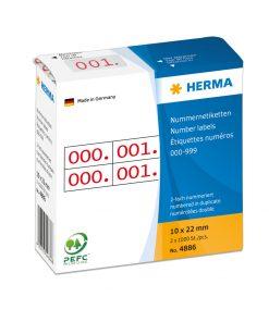 HERMA 4886 DUPLICATE NUMBERS R