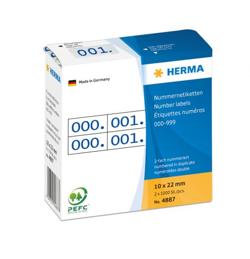 HERMA 4887 DUPLICATE NUMBERS B