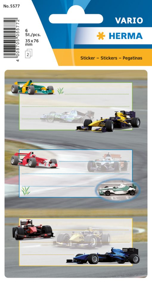 HERMA 5577 VARIO RACING CARS